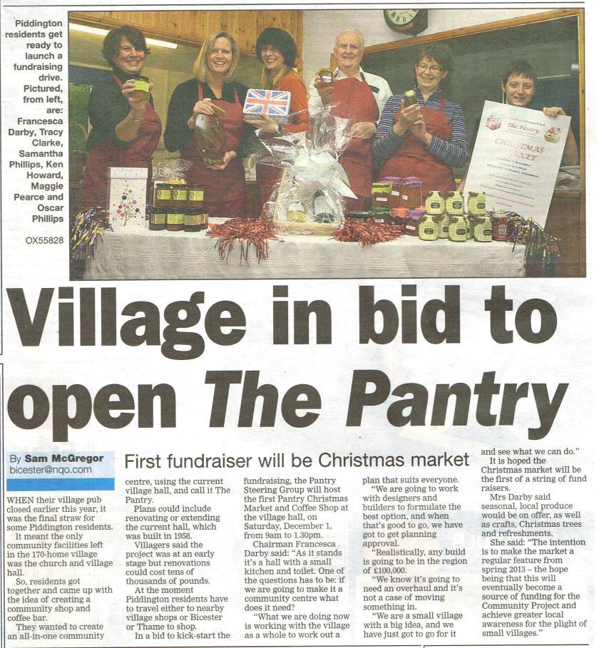 Bicester Advertiser article