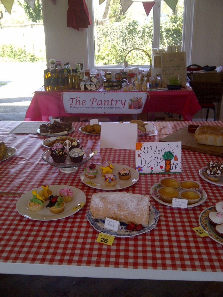 The Pantry at the Piddington Bake Off, with the Under 16 entries in the foreground