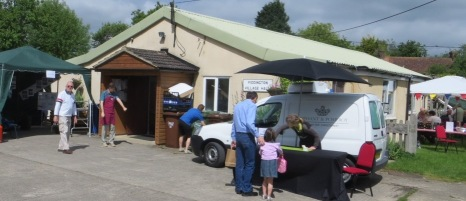Elizabeth Prior of Oliphant and Pomeroy ice cream, greets new customers.