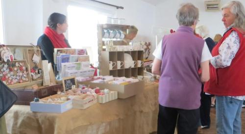 Lisa Wright sells lovely handmade items at her stall Polkadot of Winslow